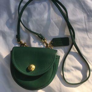 Coach Vintage Mini Green Belt Bag 9826🌿